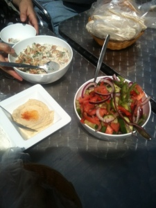 Arnabeet, Baba Ganouj & Fresh Salad at Al-Wadi